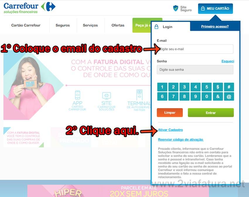 Fatura Carrefour 2ª via